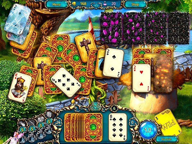 Screenshot ze hry  «Dreamland Solitaire: Dragon's Fury» № 8