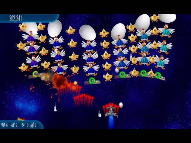 Screenshot ze hry  «Chicken Invaders 5: Cluck of the Dark Side» № 4