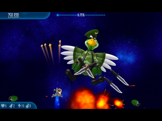 Screenshot ze hry  «Chicken Invaders 5: Cluck of the Dark Side» № 1