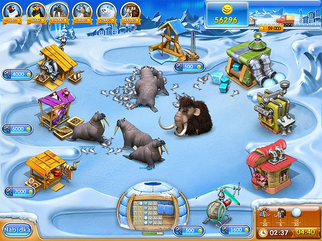 Screenshot ze hry  «Farm Frenzy 3: Ice Age» № 7