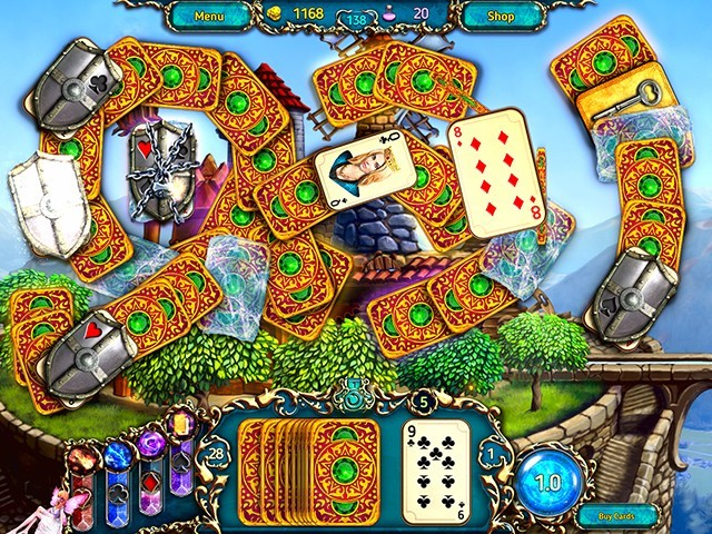 Screenshot ze hry  «Dreamland Solitaire: Dragon's Fury» № 4